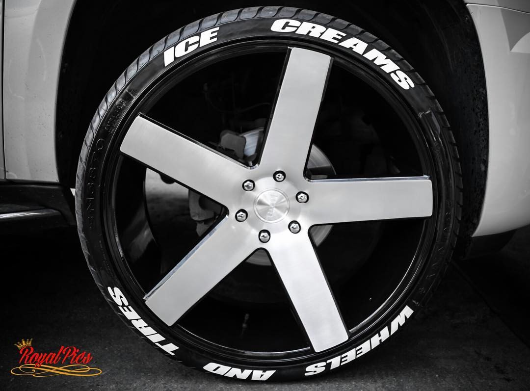 Our tire lettering experts can create different styles and shapes for a truly custom look if you have any questions call 480 352 3786